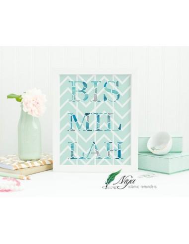 Bismillah 'minty pattern'