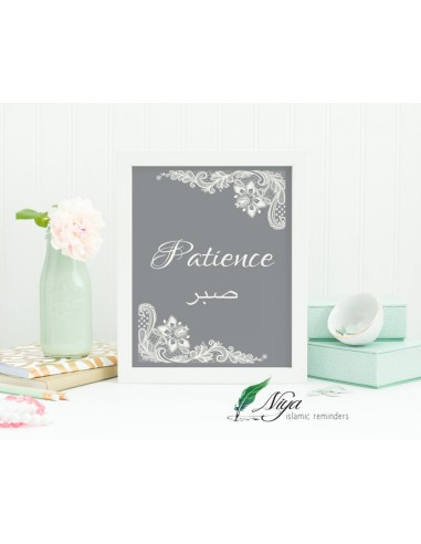 Patience 'Sabr' grijs
