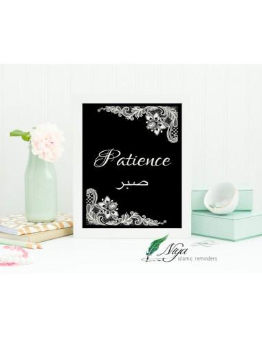 Patience 'Sabr' zwart